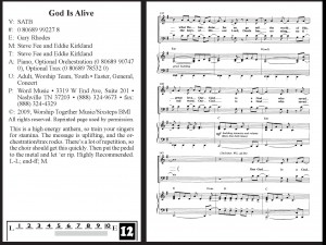 God is Alive arranged by Gary Rhodes