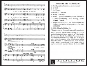 Hosanna and Hallelujah! arranged by Joel Raney