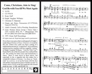 Come Christians Join to Sing/God Be With You Till We Meet Again