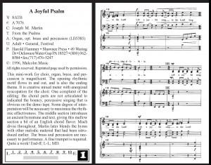 9803 A Joyful Psalm